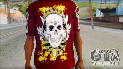 Skull T-Shirt für GTA San Andreas dritten Screenshot
