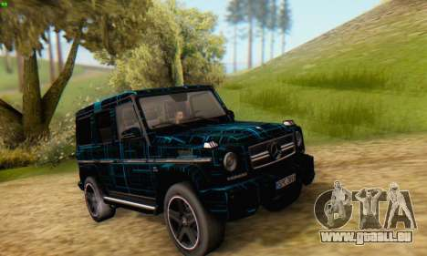 Mercedes-Benz G65 Black Square Pattern pour GTA San Andreas