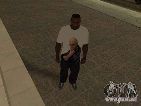 T-Shirt Enseignant pour GTA San Andreas troisième écran