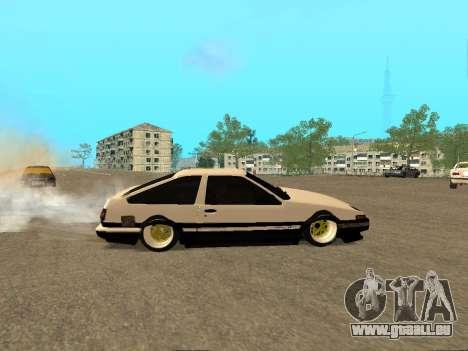 Toyota Corolla AE86 Trueno JDM für GTA San Andreas obere Ansicht
