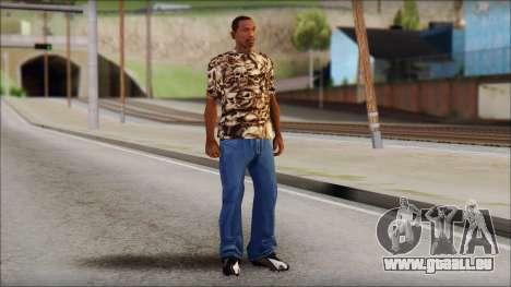 Skulls Shirt pour GTA San Andreas troisième écran
