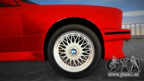 BMW M3 (E30) 1987 pour une vue GTA Vice City de la droite