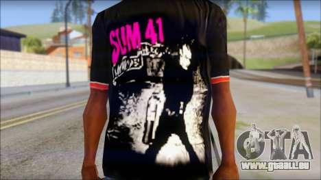 Sum 41 T-Shirt für GTA San Andreas dritten Screenshot