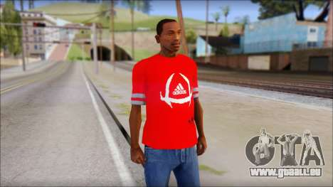 T-Shirt Adidas Red für GTA San Andreas