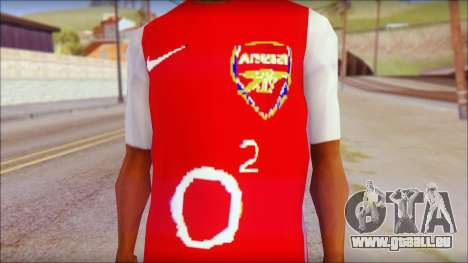 Arsenal Shirt für GTA San Andreas dritten Screenshot