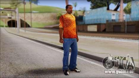 Batik Solo T-Shirt für GTA San Andreas dritten Screenshot