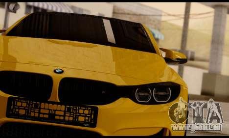 BMW M4 pour GTA San Andreas vue arrière