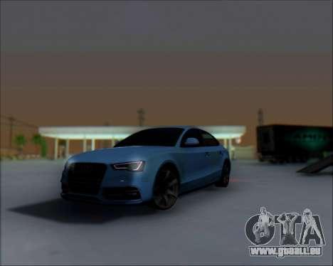 Audi A7 pour GTA San Andreas vue arrière