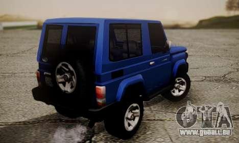 Toyota FJ70 2011 pour GTA San Andreas laissé vue
