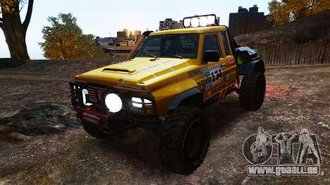 Nissan Patrol Buggy für GTA 4 Innenansicht