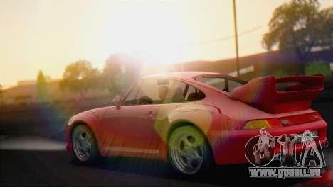 Porsche 911 GT2 (993) 1995 V1.0 EU Plate pour GTA San Andreas sur la vue arrière gauche