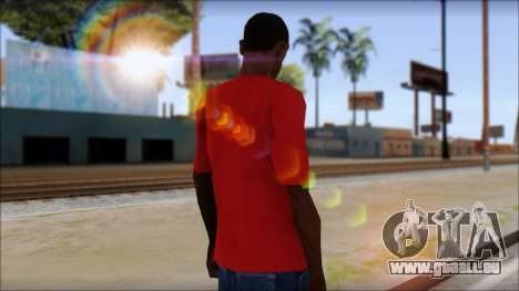 Arsenal T-Shirt pour GTA San Andreas deuxième écran