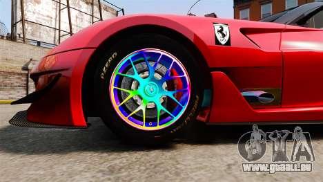 Ferrari F599 XX Evoluzione Simple CarbonFiber pour GTA 4 Vue arrière
