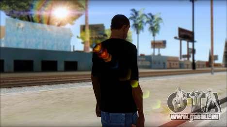 Iron Maiden T-Shirt pour GTA San Andreas deuxième écran