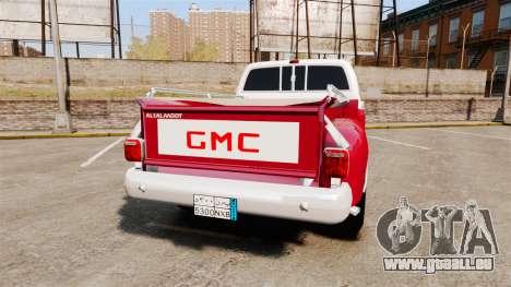 GMC 454 Pick-Up Up pour GTA 4 Vue arrière de la gauche