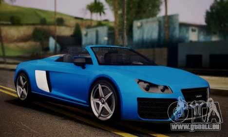Obey 9F Cabrio pour GTA San Andreas sur la vue arrière gauche
