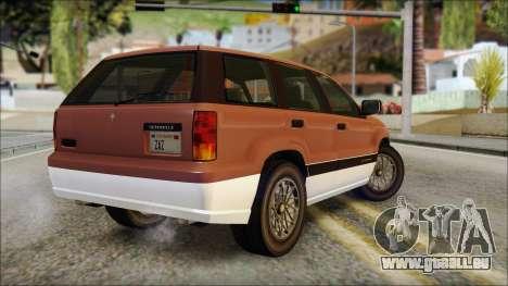 Seminole from GTA 5 pour GTA San Andreas laissé vue