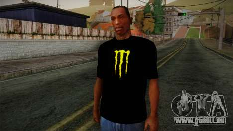 Monster Energy Shirt Black für GTA San Andreas