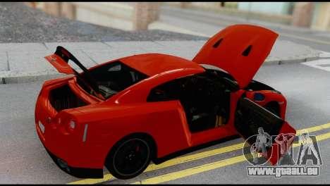 Nissan GT-R R35 pour GTA San Andreas vue arrière