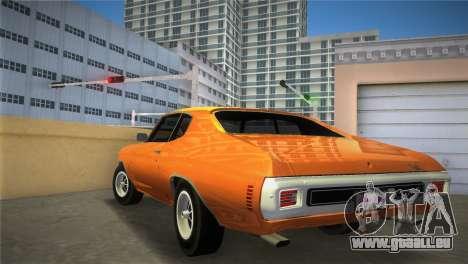 Chevrolet Chevelle SS pour une vue GTA Vice City de la gauche