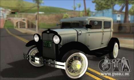 Ford A 1930 pour GTA San Andreas vue de dessous