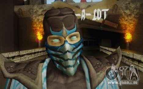 Sub Zero Skin pour GTA San Andreas troisième écran