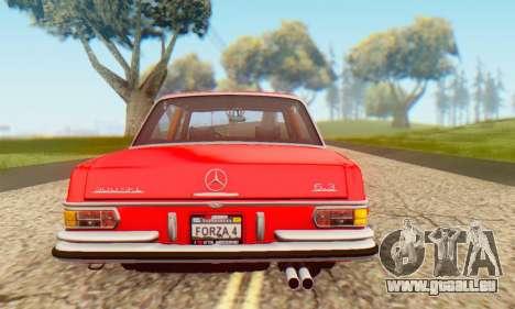 Mercedes-Benz 300SEL Stock 1972 pour GTA San Andreas vue de droite