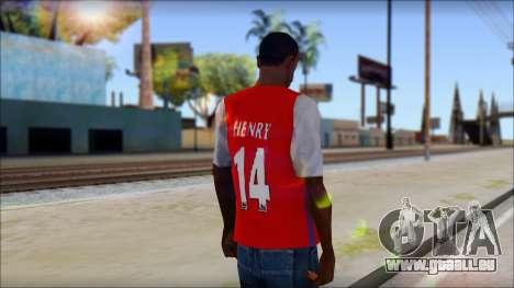Arsenal Shirt für GTA San Andreas zweiten Screenshot