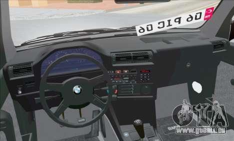 BMW M3 E30 pour GTA San Andreas vue intérieure
