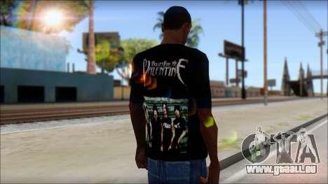 Bullet for my Valentine Fan T-Shirt für GTA San Andreas zweiten Screenshot
