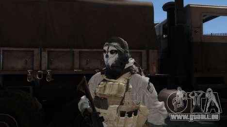 Army Ghost v1 pour GTA San Andreas troisième écran