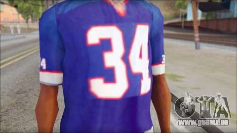 NY Buffalo Bills Blue für GTA San Andreas dritten Screenshot