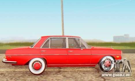 Mercedes-Benz 300SEL Stock 1972 pour GTA San Andreas laissé vue