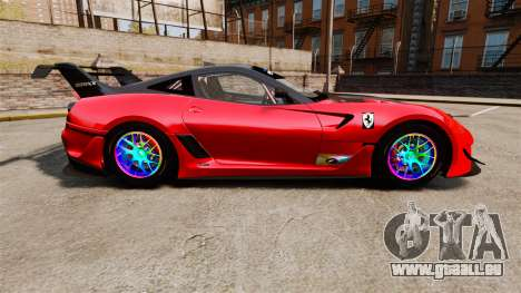 Ferrari F599 XX Evoluzione Simple CarbonFiber für GTA 4 linke Ansicht