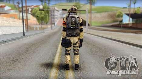 Opfor PVP from Soldier Front 2 pour GTA San Andreas deuxième écran