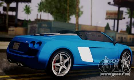 Obey 9F Cabrio für GTA San Andreas linke Ansicht