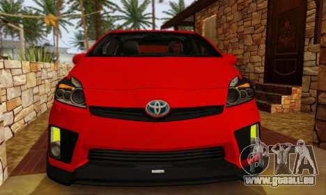 Toyota Prius Tunable pour GTA San Andreas vue arrière
