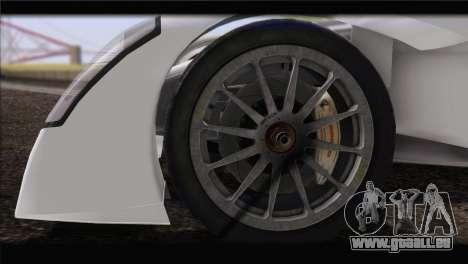 Caparo T1 2012 pour GTA San Andreas sur la vue arrière gauche