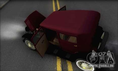 Ford A 1930 pour GTA San Andreas vue de dessus