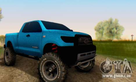 Toyota Tundra OFF Road Tuning Blue Star pour GTA San Andreas vue arrière