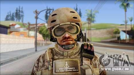 Desert SFOD from Soldier Front 2 pour GTA San Andreas troisième écran