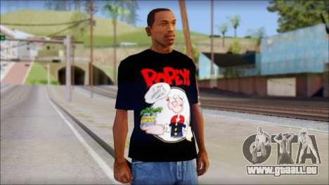 Popeye T-Shirt für GTA San Andreas