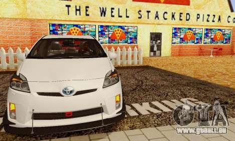 Toyota Prius Tunable pour GTA San Andreas vue de dessous
