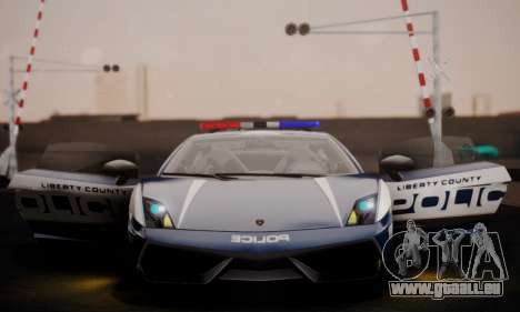 Lamborghini Gallardo LP 570-4 2011 Police v2 für GTA San Andreas Unteransicht
