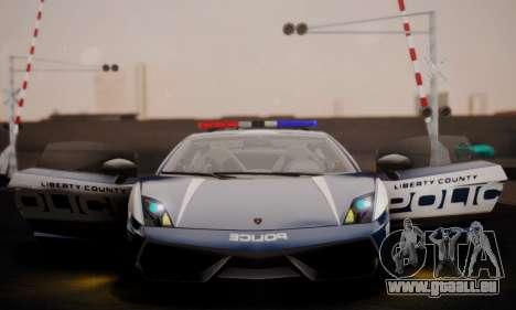 Lamborghini Gallardo LP 570-4 2011 Police v2 pour GTA San Andreas vue de dessous