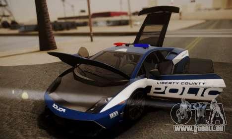 Lamborghini Gallardo LP 570-4 2011 Police v2 pour GTA San Andreas roue