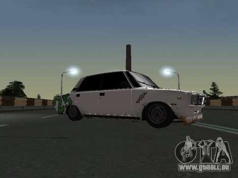 VAZ 2107 Clochard pour GTA San Andreas sur la vue arrière gauche