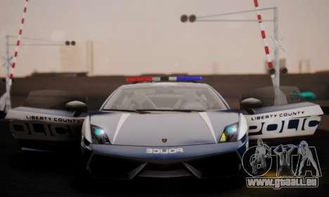 Lamborghini Gallardo LP 570-4 2011 Police v2 pour GTA San Andreas vue de côté