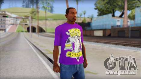 John Cena Purple T-Shirt für GTA San Andreas