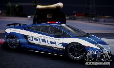 Lamborghini Gallardo LP 570-4 2011 Police v2 pour GTA San Andreas vue de droite